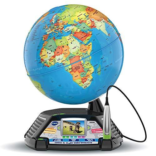 VTech - Genius XL – Globe Vidéo interactif avec écran vidéo électronique éducatif - Version...