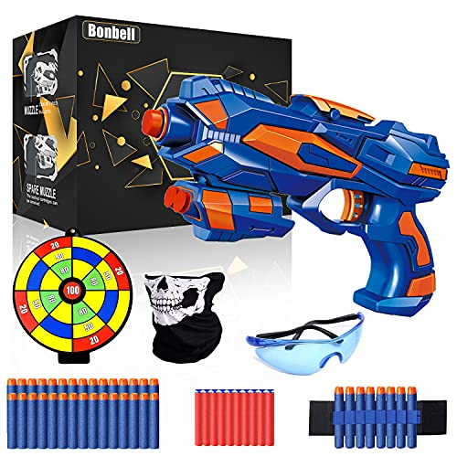 Pistolet Enfant, Jouet Pistolet Flechette pour Garçons, Pistolet Blaster Avec 40 Mousse...