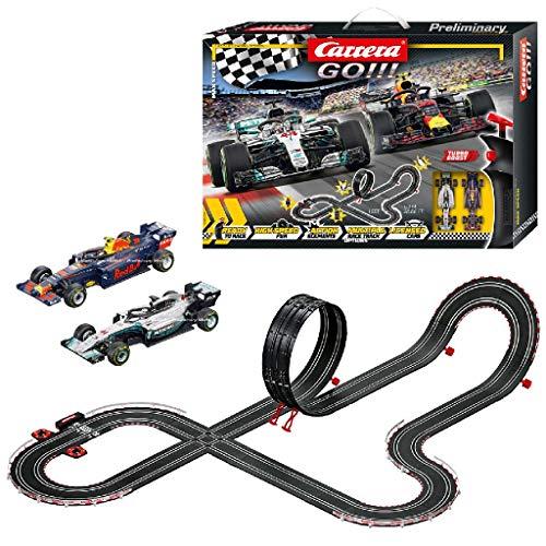 Carrera GO!!! Max Speed – Circuit de course électrique avec voitures miniatures Formule 1 –...