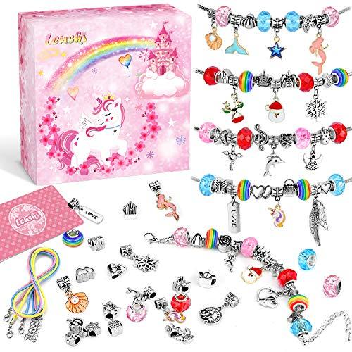 Lenski Cadeau Fille 10 9 8 7 6 5 4 Ans, Jouet Fille, Breloques Creation Bijoux, Bracelet Fille,...
