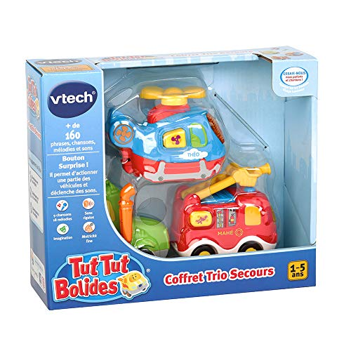 Vtech Tut Tut Bolides - 80-205805 - Coffret Trio Pompiers : LEO + GAETAN + BARNABE - Modèle...