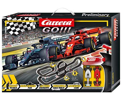 Carrera GO!!! No Limits – Circuit de course électrique avec voitures miniatures Ferrari et...
