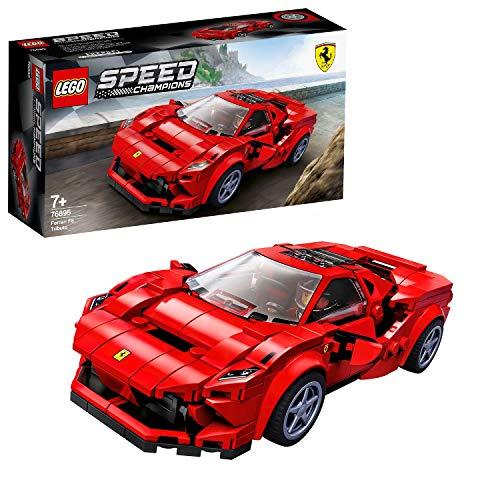 LEGO 76895 Speed Champions Ferrari F8 Tributo, Cadeau Anniversaire et Noël Enfant Voiture de...