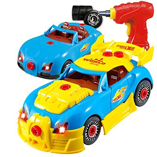 Think Gizmos Voiture de course à démonter - Jouet de construction - Voiture d'enfant pour les...