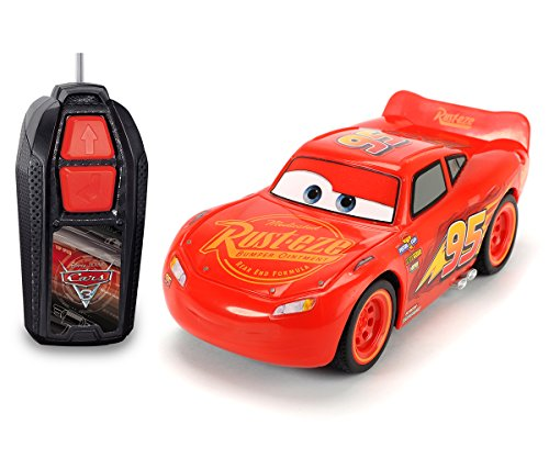 Dickie Toys- Lighting McQueen Dickie Toys-203081000-Radiocommandé-Véhicule-Cars 3-Lightning Single...