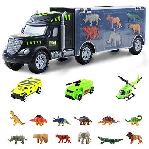 Nuheby Voiture Enfant Dinosaures Jouet Camion Cars Transporteur, Jouet Dinosaure avec Voiture...