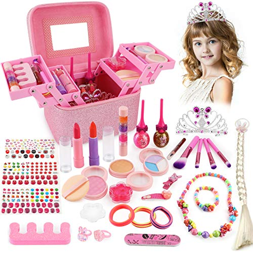 balnore Maquillage Enfant Jouet Fille, 34PCS Jouet Ensemble De Maquillage Lavable, Jouets Jeu de...