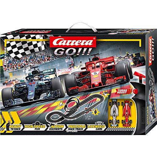 Carrera GO!!! Speed Grip – Circuit de course électrique avec voitures miniatures Ferrari et...