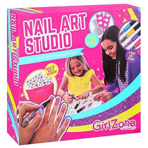GirlZone Cadeau Fille | Nail Art Studio | Décoration pour Les Ongles | Maquillage pour Enfants |...