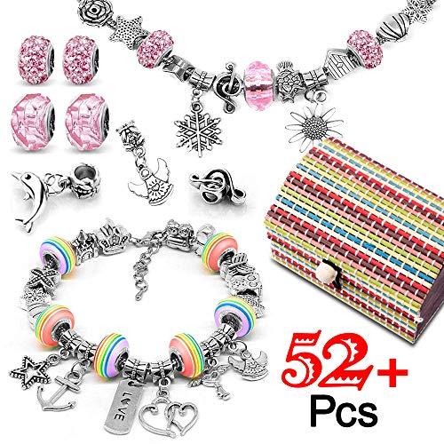 Loisirs Creatifs Cadeau Fille 8 à 12 ans, Kit de fabrication de bracelet avec Pendentifs Charme...