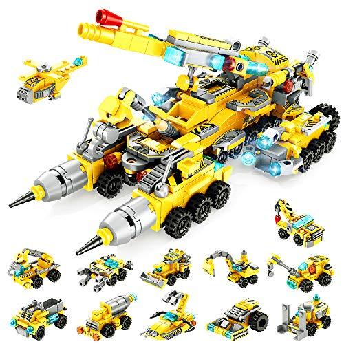 VATOS Jouets de Construction STEM pour Enfants, Blocs de Construction de Camion de Construction...
