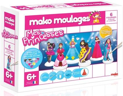 Moules figurines princesses à décorer