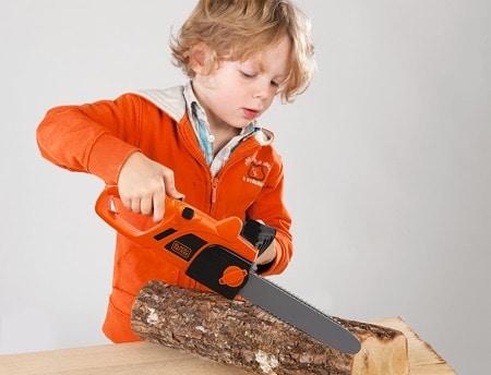 Smoby - 360103 - Tronconneuse Black + Decker - Imitation Bricolage Enfant