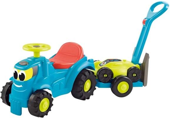 Ecoiffier tracteur avec remorque et tondeuse