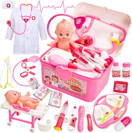 Docteur Enfant Deguisement Medecin fille Poupon