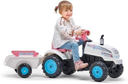 Tracteur à pédale fille